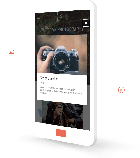 Simvoly mobile responsive website templates