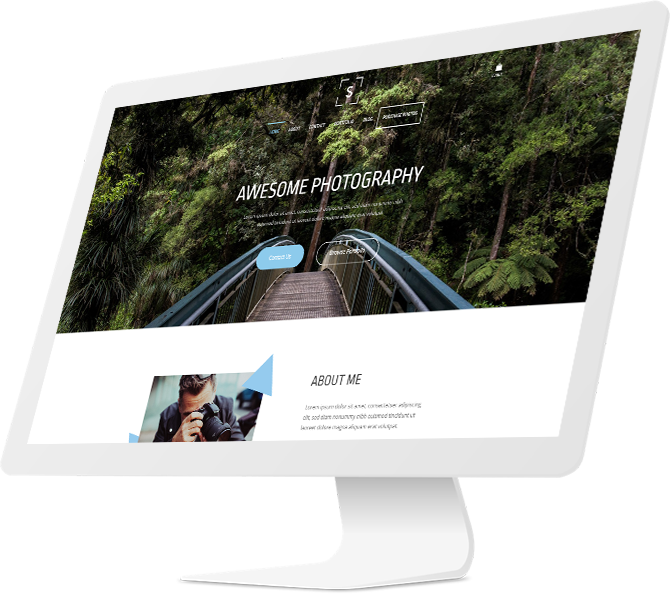 Simvoly photography website design