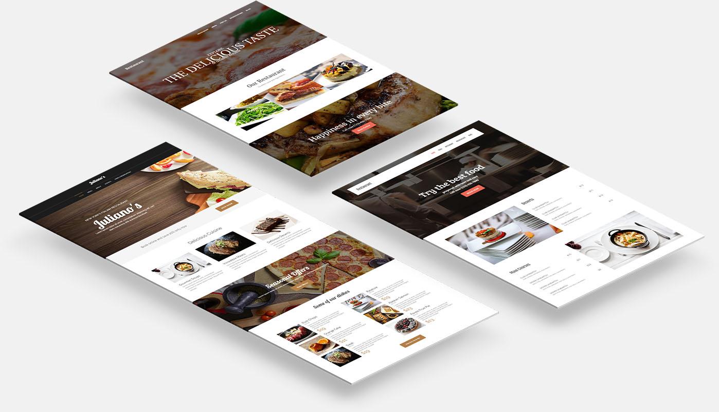 Restaurant Website Temapltes
