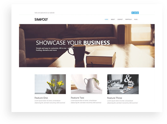 Simvoly business template
