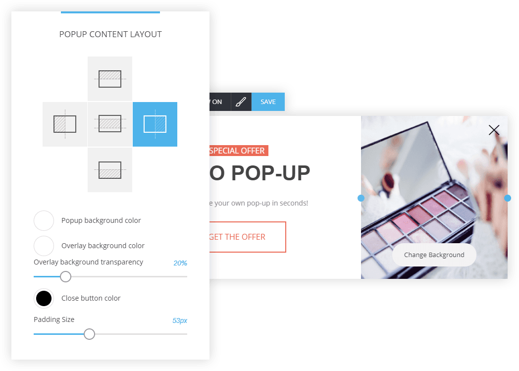 Easy website popup builder