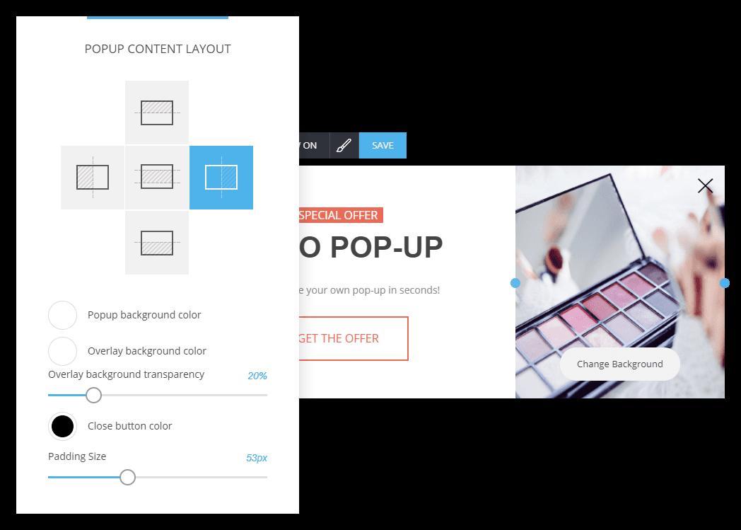 Easy website popup builder