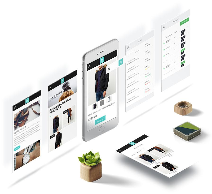 eCommerce mobile simvoly online store