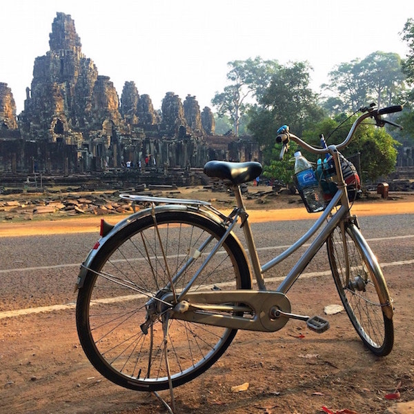 Siem Reap on a bicycle