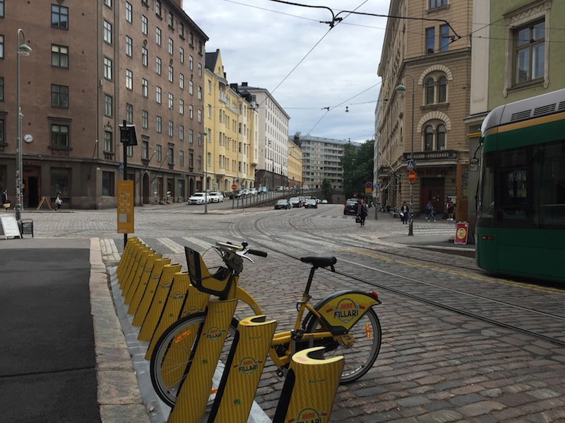 Helsinki on a bicycle