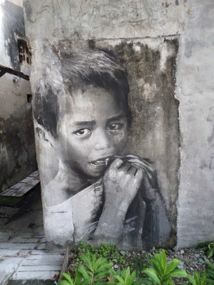 Child Mural at Prangin Canal