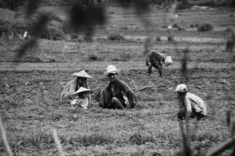 Farmer family in Kalaw, Myanmar