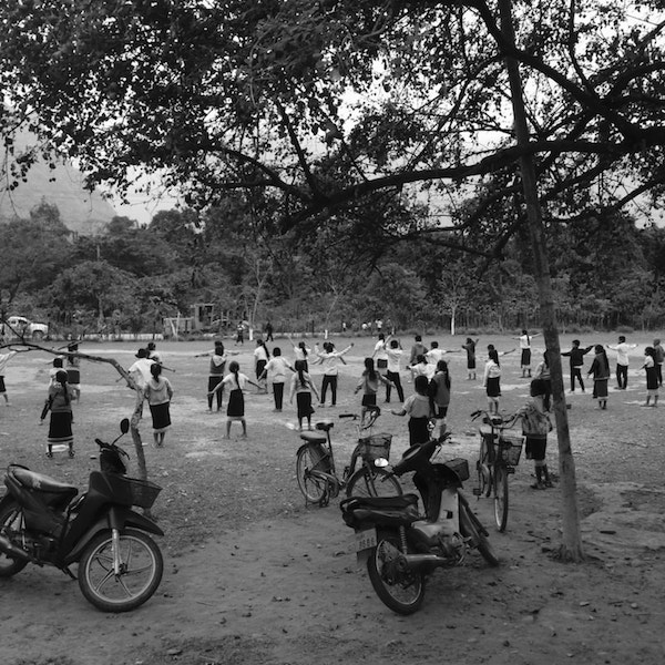Children on a school break in Vang Vieng, Laos