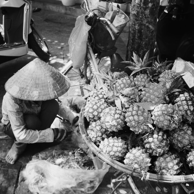 Fruit sellers, Hanoi, Vietnam